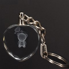 Teddy Bear 3D Engraving Heart Key Chain