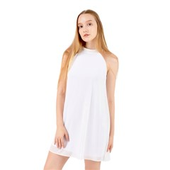 Halter Neckline Chiffon Dress