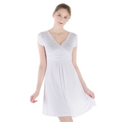 Short Sleeve Front Wrap Dress