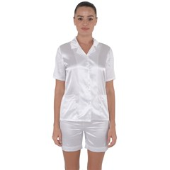 Satin Short Sleeve Pyjamas Set