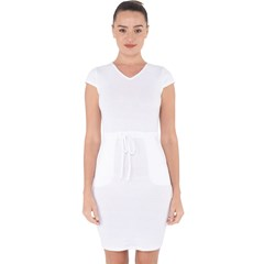 Capsleeve Drawstring Dress