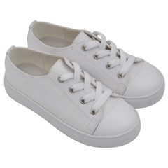 Kids  Low Top Canvas Sneakers