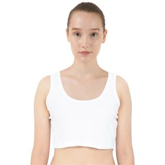 Velvet Racer Back Crop Top