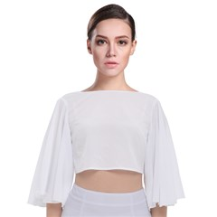 Tie Back Butterfly Sleeve Chiffon Top