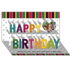 Happy Birthday 3D Greeting Card (8x4)
