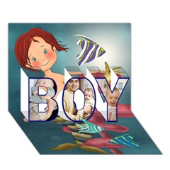 BOY 3D Greeting Card (7x5)