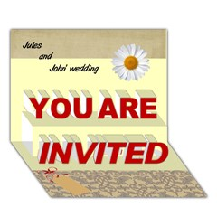 YOU ARE INVITED 3D Greeting Card (7x5)