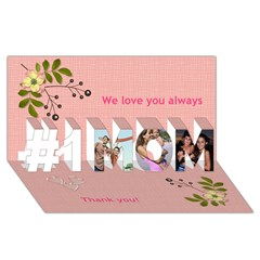 #1 MOM 3D Greeting Cards (8x4)
