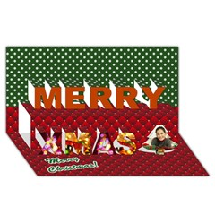 Merry Xmas 3D Greeting Card (8x4)
