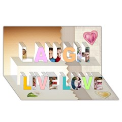 Laugh Live Love 3D Greeting Card (8x4)