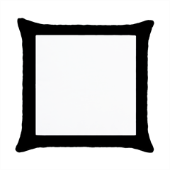 Black Throw Pillow Case