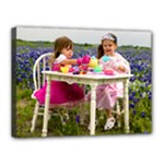 Girls in Bluebonnets - Canvas 16  x 12  (Stretched)