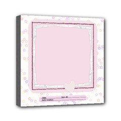 newborn baby girl - Mini Canvas 6  x 6  (Stretched)