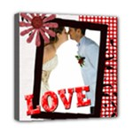 love,memory, happy, fun  - Mini Canvas 8  x 8  (Stretched)