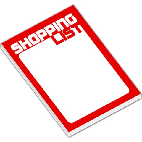 Shopping List   Red By Mum2 3boys   Large Memo Pads   2ia69jgvxlyf   Www Artscow Com