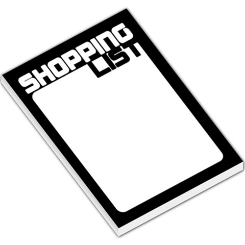 Shopping List   Black By Mum2 3boys   Large Memo Pads   Fewaj4qdhw4l   Www Artscow Com