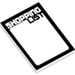 Shopping List - Black - Large Memo Pads