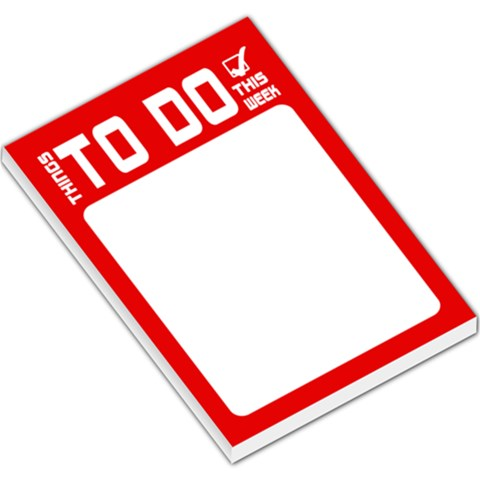 To Do List   Red By Mum2 3boys   Large Memo Pads   R6aqc6l91ks8   Www Artscow Com