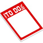 To DO List - Red - Large Memo Pads