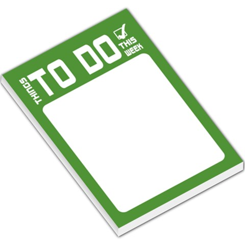 To Do List   Green By Mum2 3boys   Large Memo Pads   Kxqxnylecv2z   Www Artscow Com