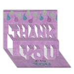 THANKU_Wise1 - THANK YOU 3D Greeting Card (7x5)