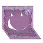 Card_MothersDay - Heart 3D Greeting Card (7x5)
