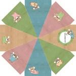 Colorful umbrella with sweet baby-mice - Straight Umbrella