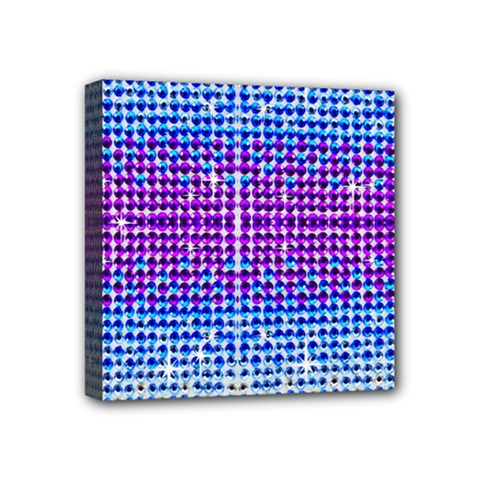 Rainbow Of Colors, Bling And Glitter 4  X 4  Framed Canvas Print by artattack4all