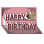 Birthday Wishes 3D Greeting Card - Happy Birthday 3D Greeting Card (8x4)
