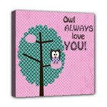 Owl Always Love You - Mini Canvas 8  x 8  (Stretched)