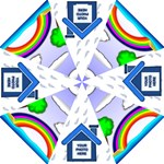 Rainbow umbrella 3 - Straight Umbrella