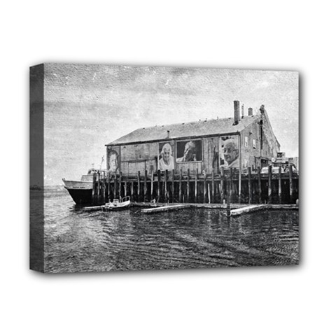 Cape Cod Deluxe Canvas 16  X 12  (stretched)  by heathergreen