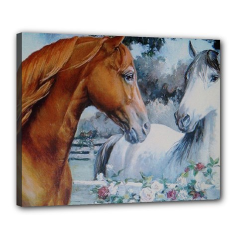 Horses Canvas 20  x 16  (Stretched) by ILPADRINO810
