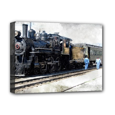 The Steam Train Deluxe Canvas 16  X 12  (stretched)  by AkaBArt