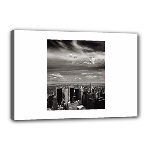 New York 12  X 18  Framed Canvas Print by artposters