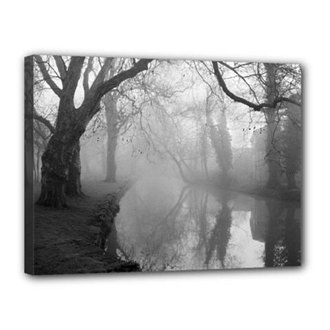 Foggy morning, Oxford 12  x 16  Framed Canvas Print by artposters