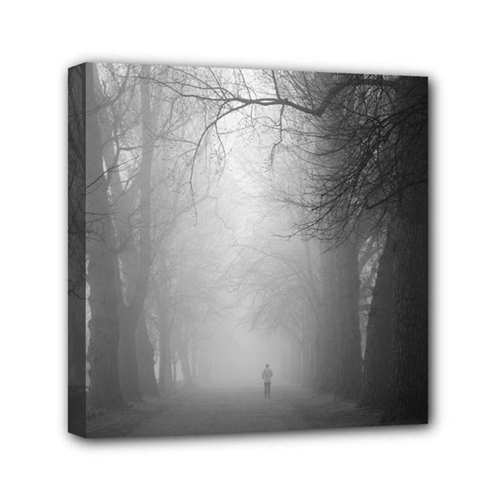 Foggy morning, Oxford 6  x 6  Framed Canvas Print