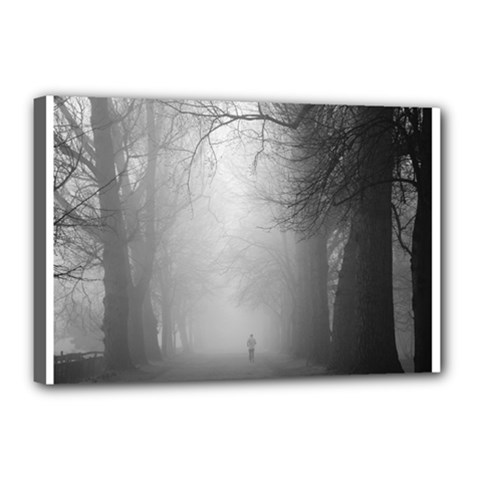 Foggy Morning, Oxford 12  X 18  Framed Canvas Print