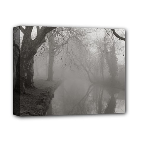 Foggy Morning, Oxford Deluxe Canvas 14  X 11  (stretched) by artposters