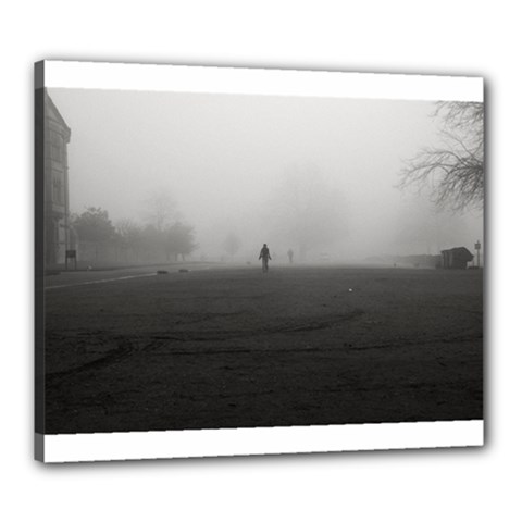 Foggy Morning, Oxford 20  X 24  Framed Canvas Print by artposters