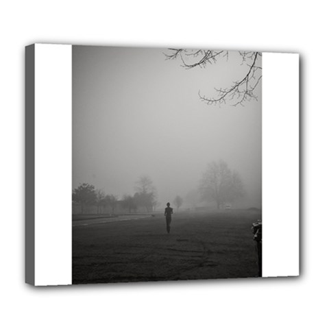 Foggy Morning, Oxford Deluxe Canvas 24  X 20  (stretched) by artposters