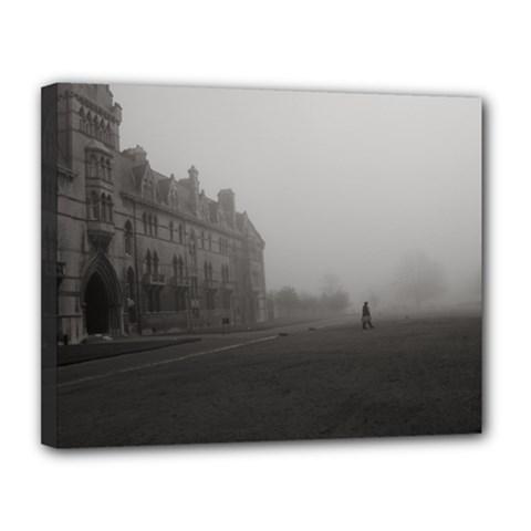 Christ Church College, Oxford 11  X 14  Framed Canvas Print