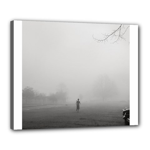 Foggy Morning, Oxford 16  X 20  Framed Canvas Print by artposters