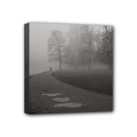 Foggy Morning, Oxford 4  X 4  Framed Canvas Print by artposters
