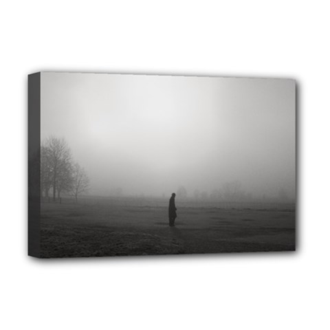 Foggy Morning, Oxford Deluxe Canvas 18  X 12  (stretched) by artposters