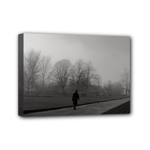 Foggy Morning, Oxford 5  X 7  Framed Canvas Print by artposters