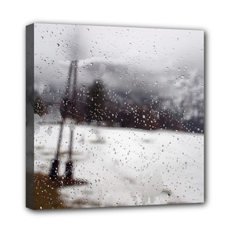 Rainy Day, Salzburg 8  X 8  Framed Canvas Print