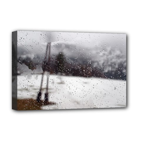 Rainy Day, Salzburg Deluxe Canvas 18  X 12  (stretched) by artposters