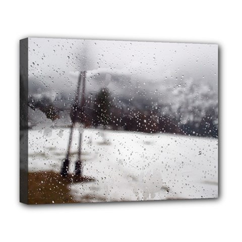 Rainy Day, Salzburg Deluxe Canvas 20  X 16  (stretched) by artposters