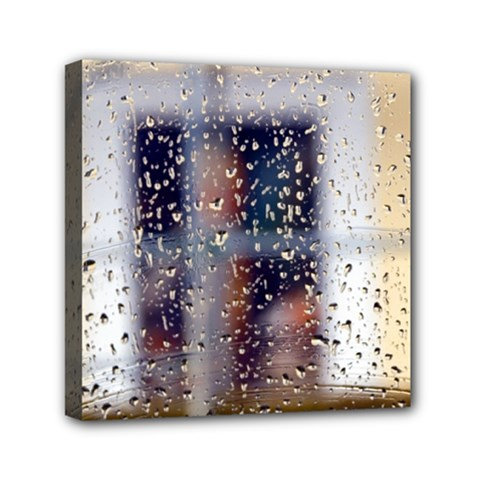Rainy Day 6  X 6  Framed Canvas Print